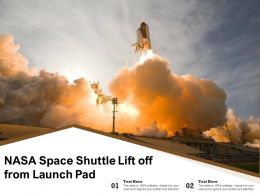 NASA Space Shuttle Lift Off From Launch Pad