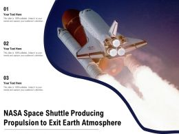 NASA Space Shuttle Producing Propulsion To Exit Earth Atmosphere