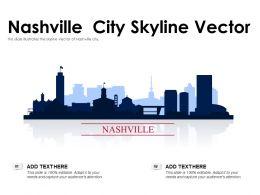 Nashville City Skyline Vector Powerpoint Presentation PPT Template