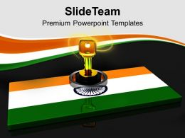 National Flag Key On It India Safety PowerPoint Templates PPT Themes And Graphics 0213
