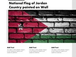 National Flag Of Jordan Country Painted On Wall