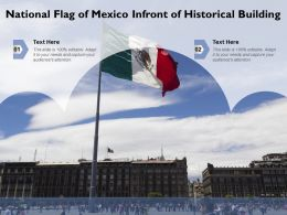 National Flag Of Mexico Infront Of Historical Building