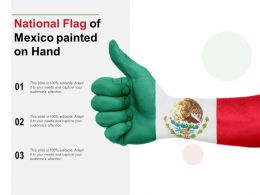 National Flag Of Mexico Painted On Hand