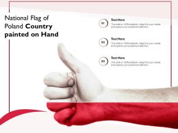 National Flag Of Poland Country Painted On Hand