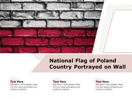 National Flag Of Poland Country Portrayed On Wall