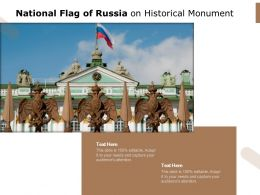 National Flag Of Russia On Historical Monument