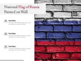 National Flag Of Russia Painted On Wall