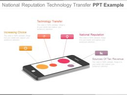 National Reputation Technology Transfer Ppt Example