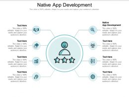 Native App Development Ppt Powerpoint Presentation Outline Cpb