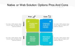 Native Or Web Solution Options Pros And Cons