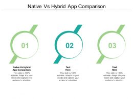Native Vs Hybrid App Comparison Ppt Powerpoint Presentation Gallery Graphics Tutorials Cpb