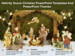 Nativity Scene Christian Powerpoint Templates And Powerpoint Themes