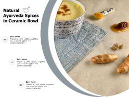 Natural Ayurveda Spices In Ceramic Bowl