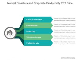 Natural Disasters And Corporate Productivity Ppt Slide