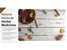 Natural Herbs In Herbal Medicines