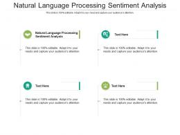 Natural Language Processing Sentiment Analysis Ppt Powerpoint Presentation Ideas Model Cpb