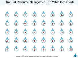 Natural Resource Management Of Water Icons Slide Ppt Powerpoint Presentation Portfolio Images