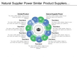 Natural Supplier Power Similar Product Suppliers Large Moderate Supplier