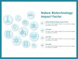 Nature Biotechnology Impact Factor Ppt Powerpoint Presentation Summary Graphics