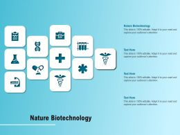 Nature Biotechnology Ppt Powerpoint Presentation Outline Deck