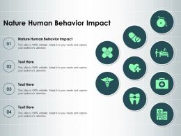 Nature Human Behavior Impact Ppt Powerpoint Presentation Styles Example