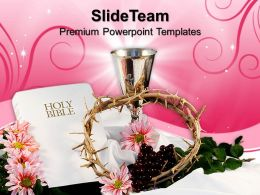 Nature Pics Powerpoint Templates Holy Bible With Crown Christian Image Ppt Process