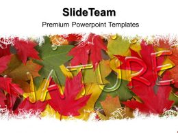 Nature Pictures Powerpoint Templates Autumn Leaves Process Ppt Slides