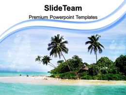 Nature Pictures To Download Powerpoint Templates Palm Trees Beach Image Ppt Themes