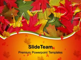Nature Pictures To Download Powerpoint Templates With Autumn Leaves Image Ppt Process