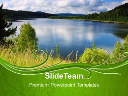 Nature Reserves Powerpoint Templates Blue Lake Image Ppt Slide Designs
