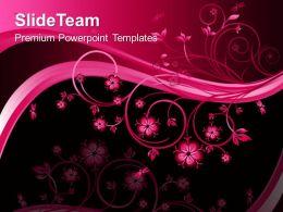 Nature Sounds Powerpoint Templates Floral01 Process Ppt Slides