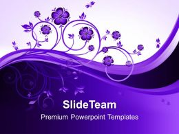 Nature Watch Powerpoint Templates Floral Teamwork Ppt