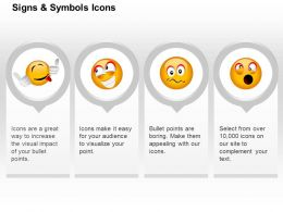 Naughty Happiness Surprise Confuse Emoticons Ppt Icons Graphics