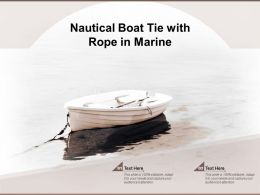 Nautical Boat Tie With Rope In Marine