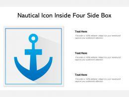 Nautical Icon Inside Four Side Box