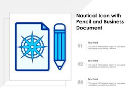Nautical Icon With Pencil And Business Document