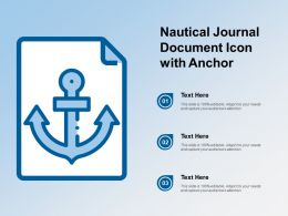 Nautical Journal Document Icon With Anchor
