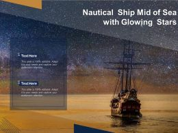 Nautical Ship Mid Of Sea With Glowing Stars