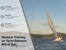 Nautical Training On Yacht Between Mid Of Sea