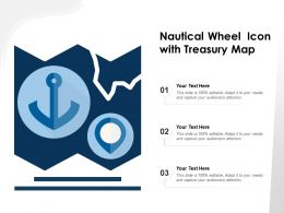 Nautical Wheel Icon With Treasury Map