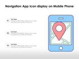 Navigation App Icon Display On Mobile Phone