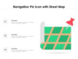 Navigation Pin Icon With Street Map
