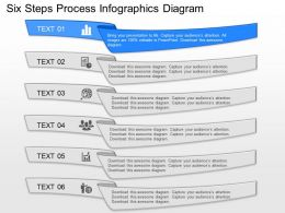 nb Six Steps Process Infographics Diagram Powerpoint Template