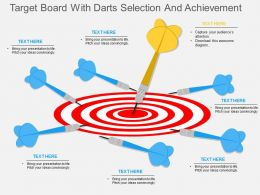 nb Target Board With Darts Selection And Achievement Flat Powerpoint Design