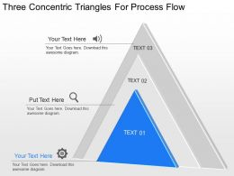 nb Three Concentric Triangles For Process Flow Powerpoint Temptate