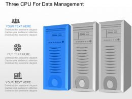 nc Three Cpu For Data Management Powerpoint Temptate