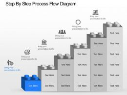 nd Step By Step Process Flow Diagram Powerpoint Template
