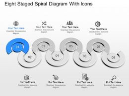 Ne Eight Staged Spiral Diagram With Icons Powerpoint Template
