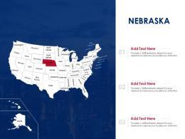 Nebraska Map Powerpoint Presentation PPT Template