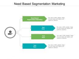 Need Based Segmentation Marketing Ppt Powerpoint Presentation Outline Summary Cpb